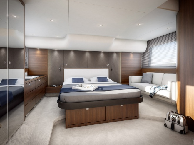 Princess 56 Flybridge Yacht - Stateroom