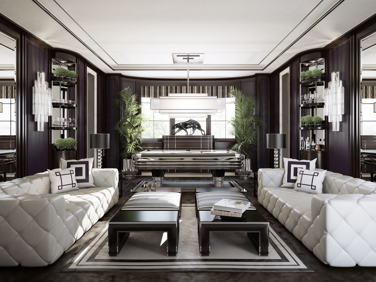 Interior cgi architectural visualisation - Luxury interior ...